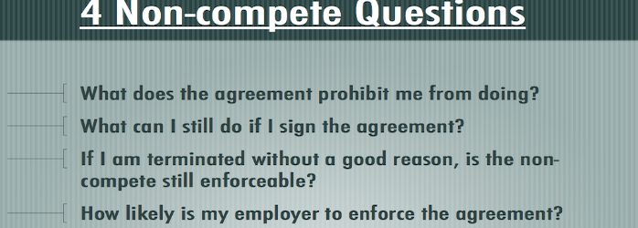 Non Compete Clause In An Employment Contract Legal Advice Middle East